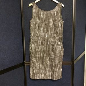 J Crew Tweed Black & White Dress Size 10